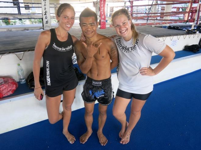 Min fina träningskompanjon Anna och världens bästa Daeng :)